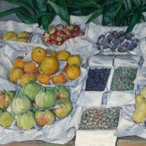 Gustave Caillebotte, Fruit Displayed on a Stand, about 1881-82
