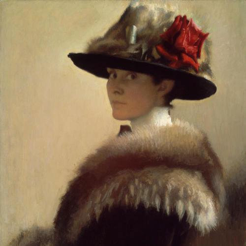 Gretchen Woodman Rogers, Woman in a Fur Hat, about 1915