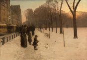Childe Hassam - At Dusk (Boston Common at Twilight), 1885-86