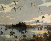 Frank Weston Benson - Pintails Decoyed, 1921