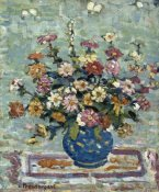 Maurice Brazil Prendergast - Flowers in a Blue Vase, about 1910-13