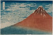 Katsushika Hokusai - Fine Wind, Clear Weather, also known as Red Fuji, about 1830-31