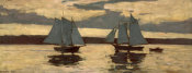Winslow Homer - Gloucester Mackerel Fleet at Sunset (Prout's Neck, Mackerel Fleet at Sunset), 1884
