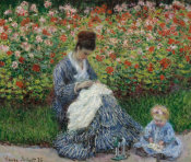 Claude Monet - Camille Monet and a Child in the Artist's Garden in Argenteuil, 1875