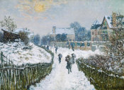 Claude Monet - Boulevard Saint-Denis, Argenteuil, in Winter, 1875