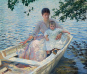 Edmund Charles Tarbell - Mother and Child in a Boat, 1892