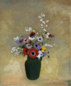 Odilon Redon - Large Green Vase with Mixed Flowers, 1910-12