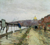 Childe Hassam - Charles River and Beacon Hill, about 1892