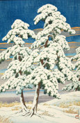 Kawase Hasui - Pines in Clear Weather after Snow (Matsu no yukibare), 1929