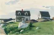 Edward Hopper - Houses of 'Squam Light, Gloucester, 1923