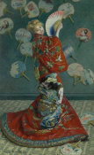 Claude Monet - La Japonaise (Camille Monet in Japanese Costume), 1876