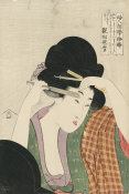 Kitagawa Utamaro - Shaving the Eyebrows, 1802-03