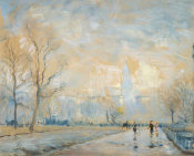 Arthur Clifton Goodwin - Custom House Tower from the Public Garden, Boston, about 1914