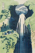 Katsushika Hokusai - The Amida Falls in the Far Reaches of the Kisokaido Road, about 1832