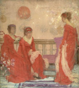 James Abbott McNeill Whistler - Harmony in Flesh Colour and Red, about 1869