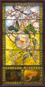 Louis Comfort Tiffany - Parakeets and Gold Fish Bowl, about 1889