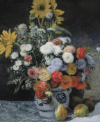 Pierre-Auguste Renoir - Mixed Flowers in an Earthenware Pot, about 1869