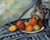 Paul Cézanne - Fruit and a Jug on a Table, about 1890-94