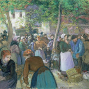 Camille Pissarro - Poultry Market at Gisors, 1885