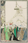 Kay Nielsen - How Joan the Maid, clad in page's dress, had an audience of the Dauphin Charles, 1914