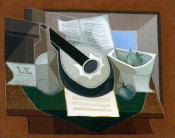 Juan Gris - Mandolin and Fruit Dish, 1925
