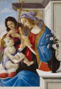 Sandro Botticelli - Virgin and Child with Saint John the Baptist, about 1500