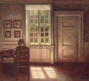Vilhelm Hammershoi - Woman in an Interior, 1909