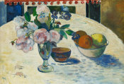 Paul Gauguin - Flowers and a Bowl of Fruit on a Table, 1894