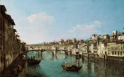 Bernardo Bellotto - The Ponte Vecchio, Florence, 1740-1780