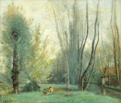 Jean-Baptiste-Camille Corot - Morning near Beauvais, about 1855-65