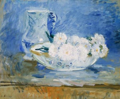 Berthe Morisot - White Flowers in a Bowl, 1885