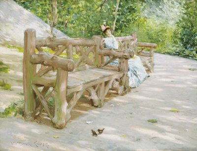 William Merritt Chase - Park Bench, about 1890