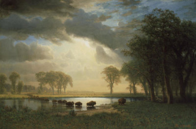 Albert Bierstadt - The Buffalo Trail, about 1867