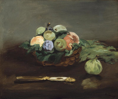 Edouard Manet - Basket of Fruit, about 1864