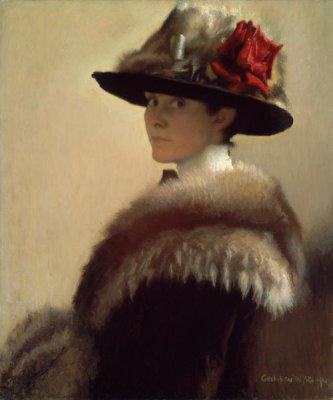 Gretchen Woodman Rogers - Woman in a Fur Hat, about 1915