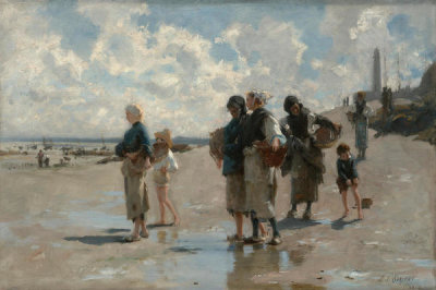 John Singer Sargent - Fishing for Oysters at Cancale, 1878