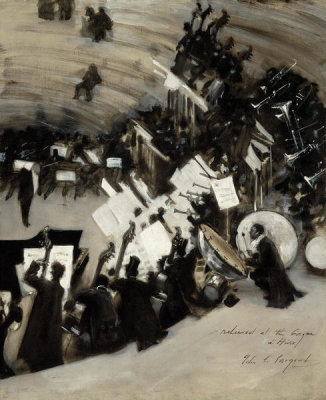 John Singer Sargent - Rehearsal of the Pasdeloup Orchestra at the Cirque d'Hiver, about 1879-80