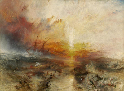 Joseph Mallord William Turner - Slave Ship (Slavers Throwing Overboard the Dead and Dying, Typhoon Coming On), 1840