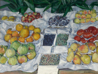 Gustave Caillebotte - Fruit Displayed on a Stand, about 1881-82