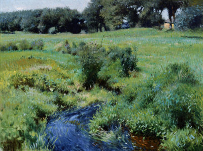 Dennis Miller Bunker - The Pool, Medfield, 1889