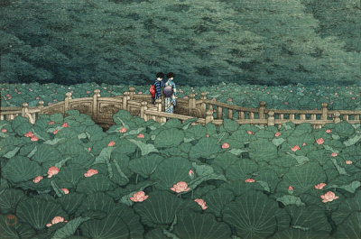 Kawase Hasui - The Pond at Benten Shrine in Shiba (Shiba Benten ike), 1929