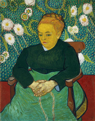 Vincent van Gogh - Lullaby: Madame Augustine Roulin Rocking a Cradle (La Berceuse), 1889