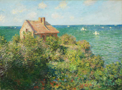 Claude Monet - Fisherman's Cottage on the Cliffs at Varengeville, 1882