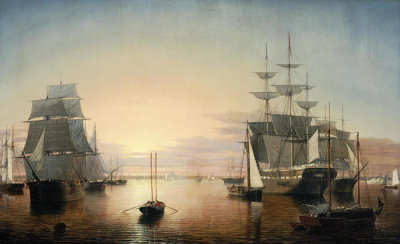 Fitz Henry Lane - Boston Harbor, about 1850-55
