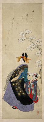 Eishi Chobunsai - Women with Cherry (Sakura bijin zu), about 1801-18