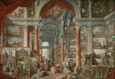 Giovanni Paolo Pannini - Picture Gallery with Views of Modern Rome, 1757