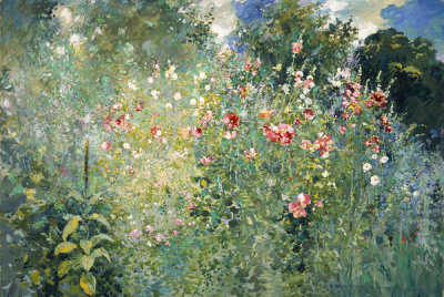 Ross Sterling Turner - A Garden Is a Sea of Flowers, 1912