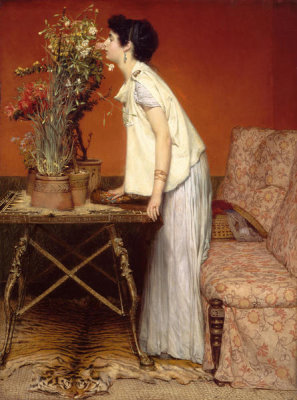 Sir Lawrence Alma-Tadema - Woman and Flowers, 1868