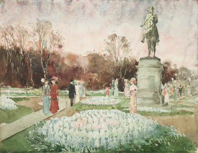Unidentified American artist - Boston Public Garden, 1910-15