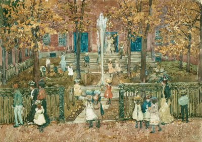 Maurice Brazil Prendergast - West Church, Boston, 1900-01